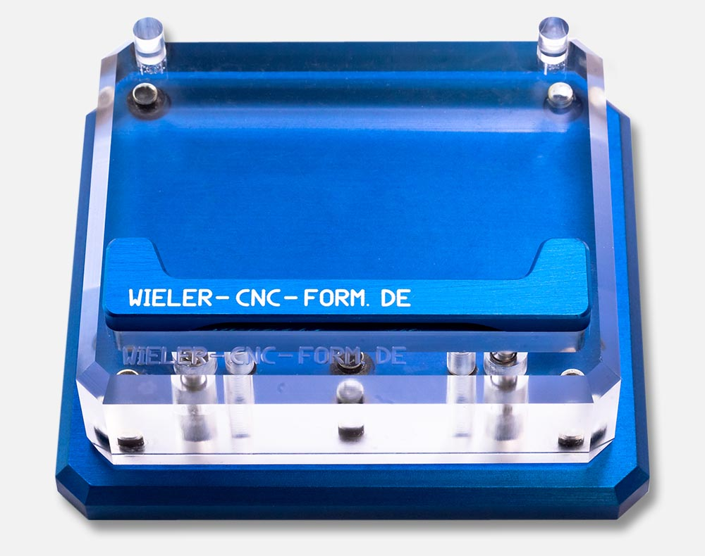 Einfache Wieler Grundplatte Aluminium Blau eloxiert
