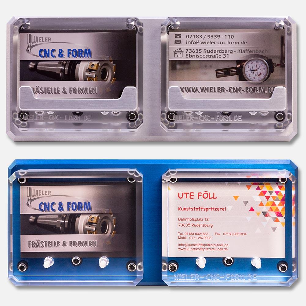Wieler Grundplatte Aluminium Silber oder Blau eloxiert